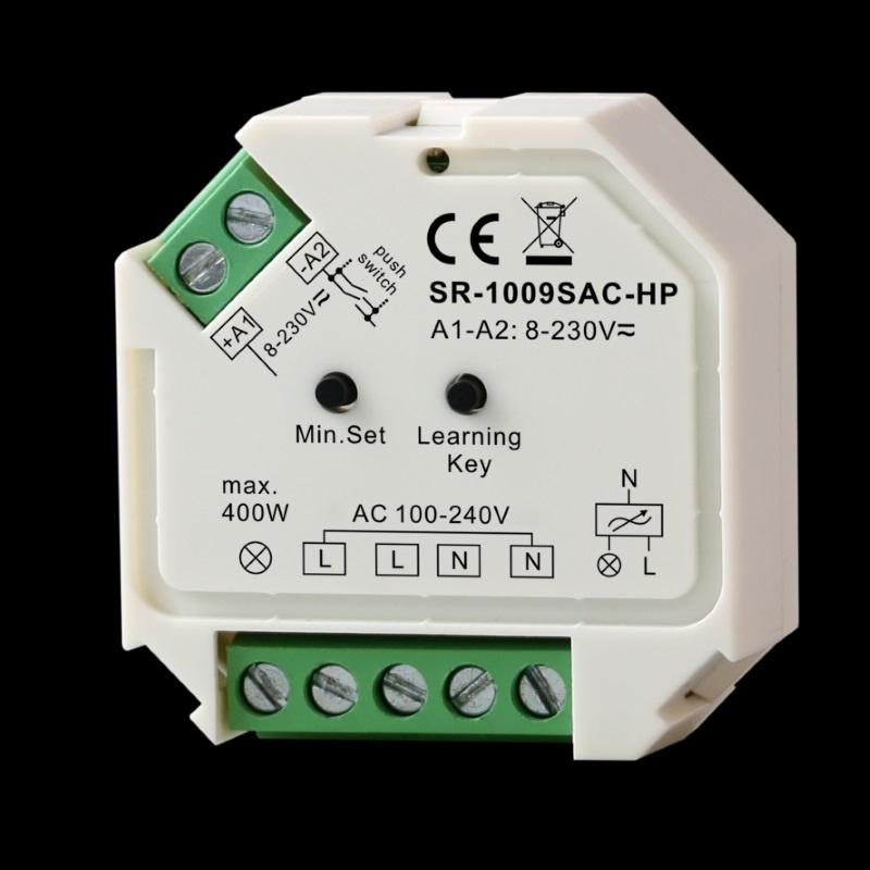 1-Kanal Funk-LED-DIMMER 230V/AC 1x 400W für RF Mehrzonen-Sender ...