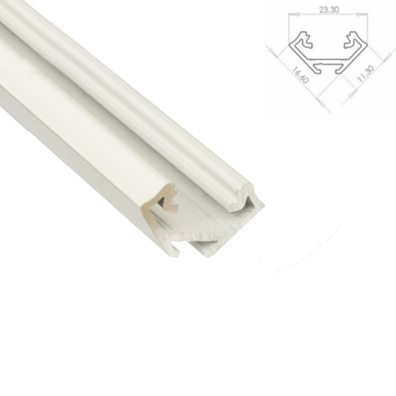 1m blanco perfil de aluminio barra esquina 45 para tiras - Perfil aluminio blanco ...