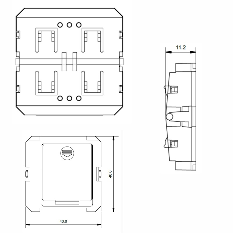 funk led dimmer schalter wandeinbau unterputz rf sender modul sr 2833p ebay. Black Bedroom Furniture Sets. Home Design Ideas