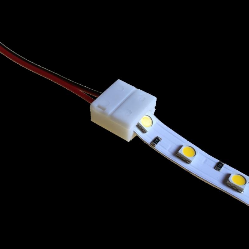 8mm verbinder mit 10cm leitung f r 2 pin led streifen mit. Black Bedroom Furniture Sets. Home Design Ideas