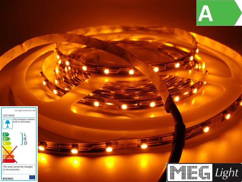 60x 1-puce smds//M 12v 1m flexible jaune bande LED//strip jaune - ip20