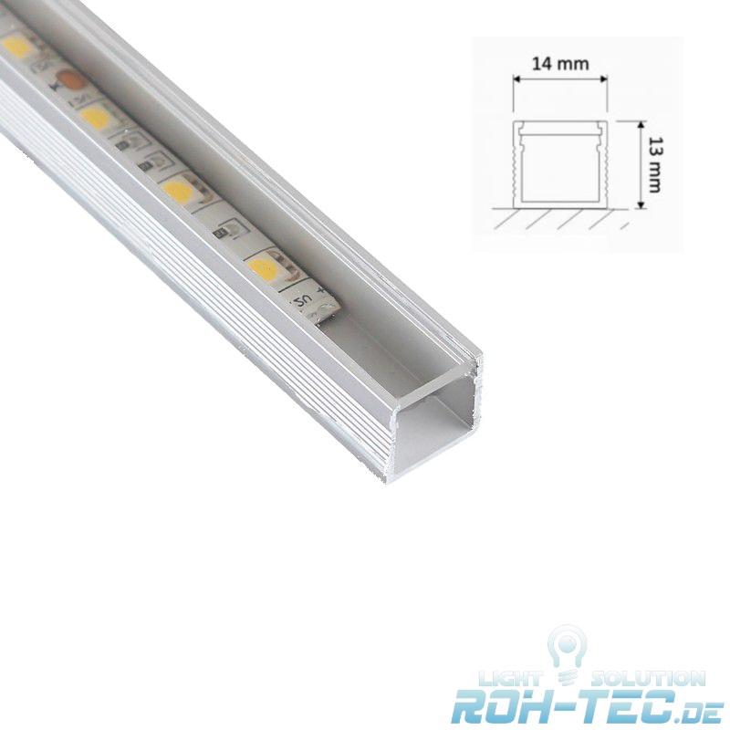 """1m Aluminium-profil//Barre /""""Line/"""" pour bande LED-Claire couvercle anodisé"""