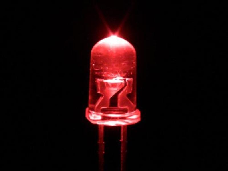 10 Rote 3mm Leds + Widerstände + Schrumpfschlauch