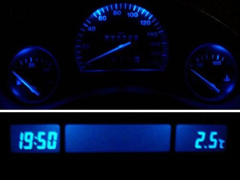 Blaue LED Tachobeleuchtung + MID Display Opel Corsa B Combo B Tigra PnP