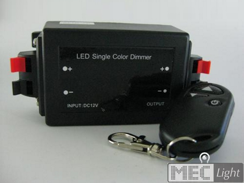 Funk-Dimmer für 12V LED-Lampen 8A / 96W + RF- Bedienung