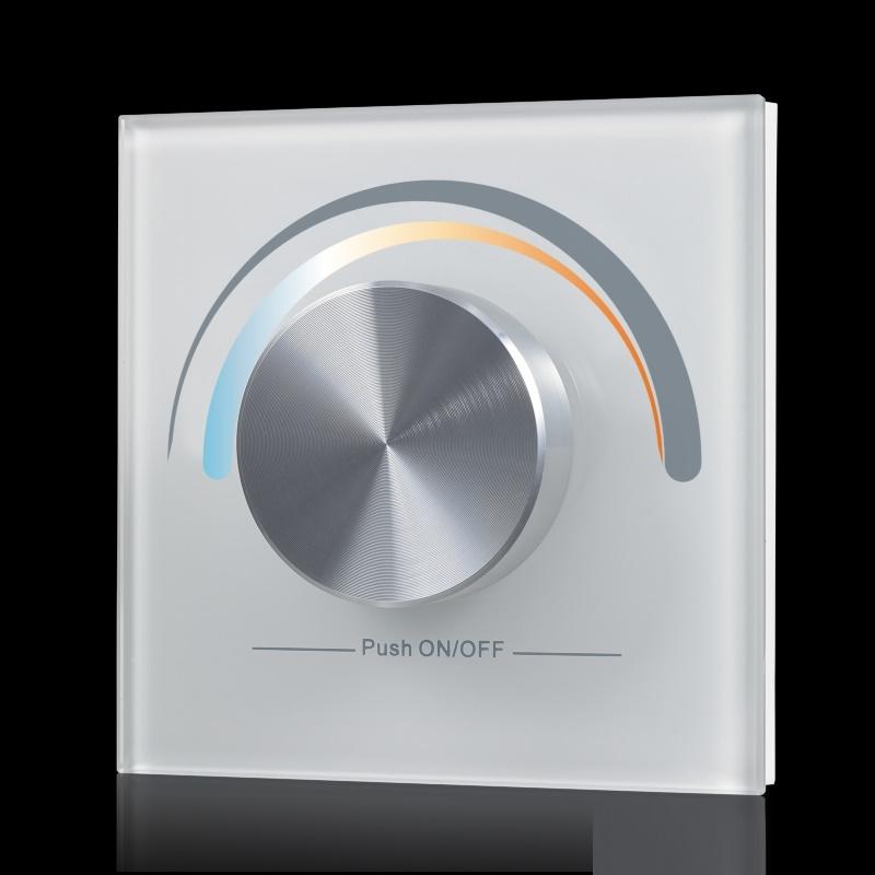 funk led controller wand dimmer schalter wei sr 2836cct cw ww lichtfarbe ebay. Black Bedroom Furniture Sets. Home Design Ideas