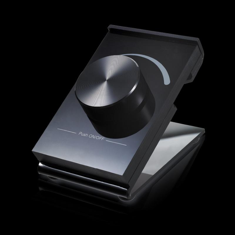 funk led controller tisch dimmer schalter schwarz dimmen schalten sr 2836d ebay. Black Bedroom Furniture Sets. Home Design Ideas