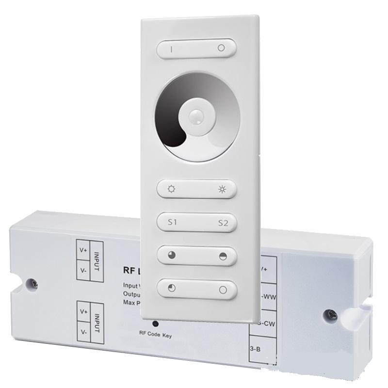 RF LED Dimmer/Controller (SR-1029DIM) 10A + Funk-Fernbedienung (SR-2839DIM) Set