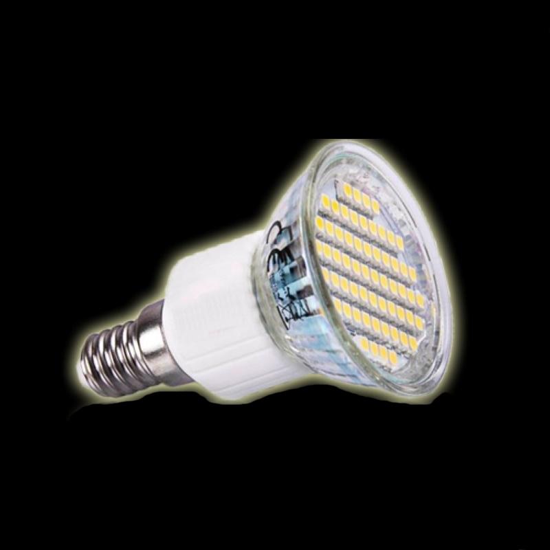 E14 LED Strahler/Spot - 60 SMD-Leds – 260Lm - 3,5W - warm-weiß