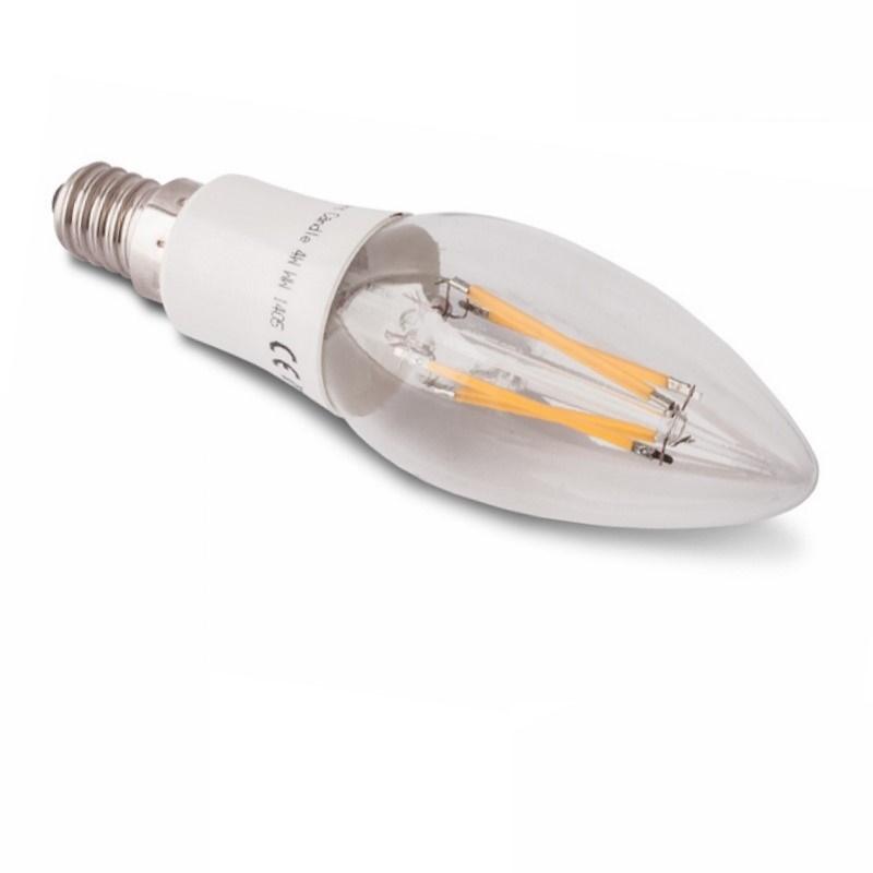 E14 LED KERZE/Candle-Leuchte - 4W – 400Lm – warm-weiß (3000K)