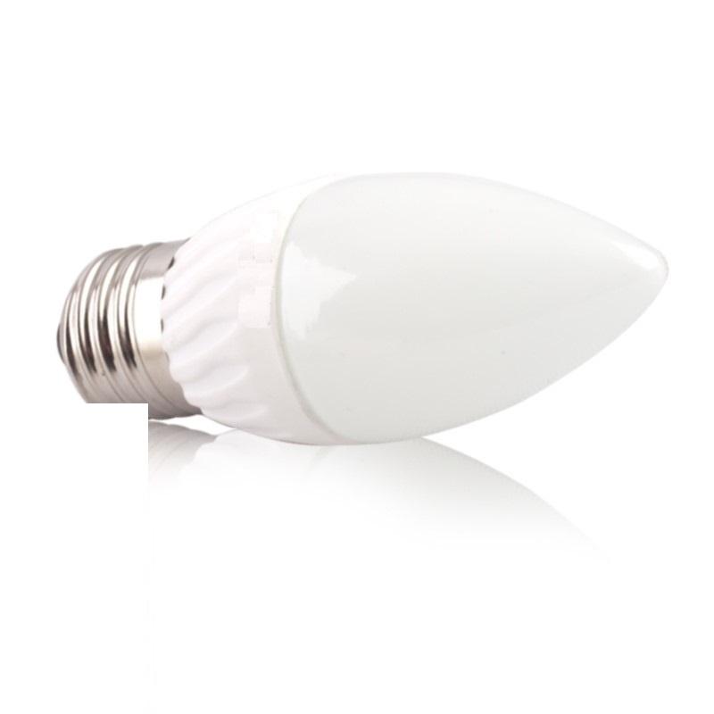 E27 LED KERZE/Kerzenlampe (C36) 4W 330Lm warm weiß (3000K)