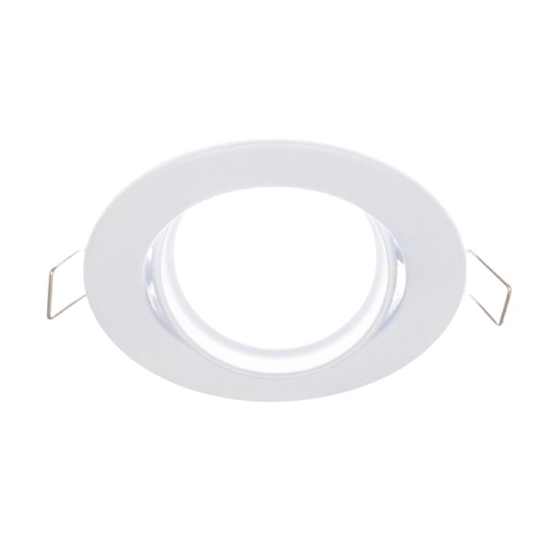Einbaurahmen MR16/GU10 rund / schwenkbar 65mm DA in weiß