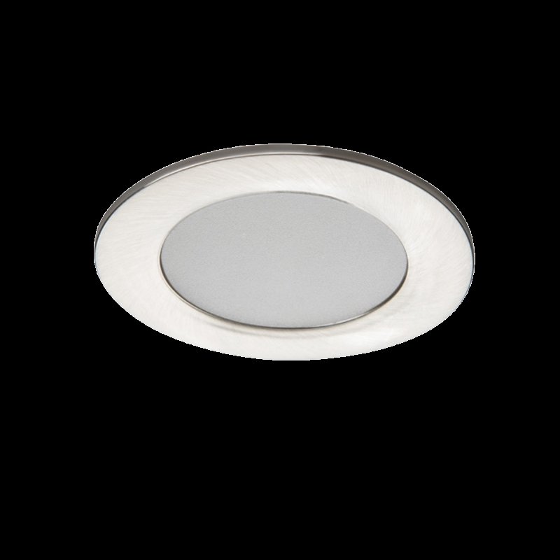 LED Einbauspot / Panel 230V 4,5W 370Lm DA=65mm matt-chrome -neutral-weiß (4000K)