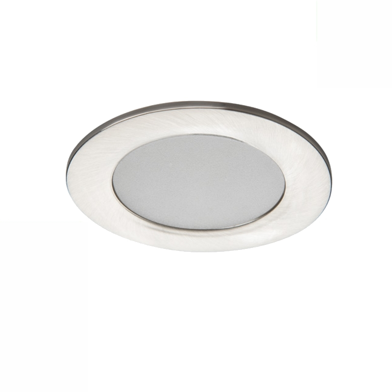 LED Einbauspot / Panel 230V 4,5W - 340Lm DA=65mm matt-chrome - warm-weiß (3000K)