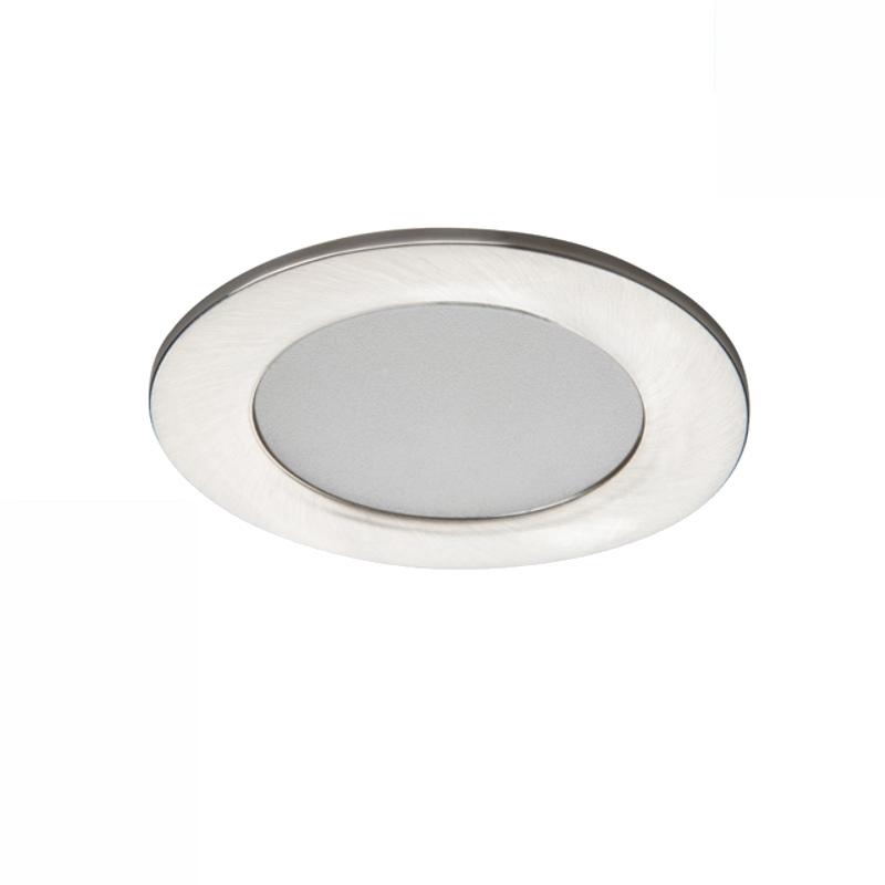 LED Einbauspot / Panel 230V 4,5W 340Lm DA=65mm matt chrome warm weiß (3000K)