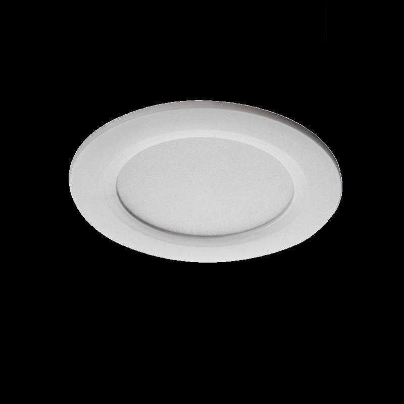 LED Einbauspot / Panel 230V 4,5W - 370Lm DA=65mm weiß - neutral-weiß (4000K)