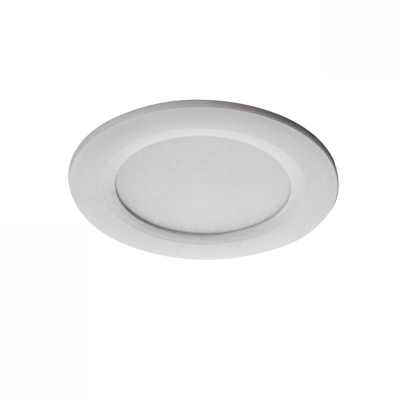 LED Einbauspot / Panel 230V 4,5W - 340Lm DA=65mm weiß - warm-weiß (3000K)