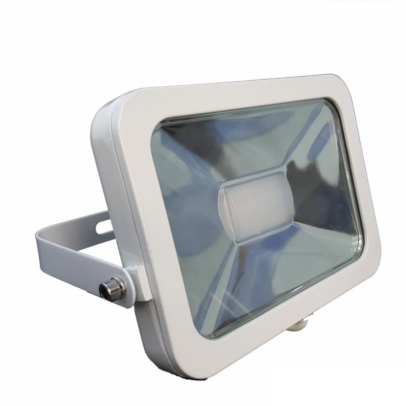 Slim Line LED Scheinwerfer / Fluter 10W - 900Lm in weiß - weiß (6400K)