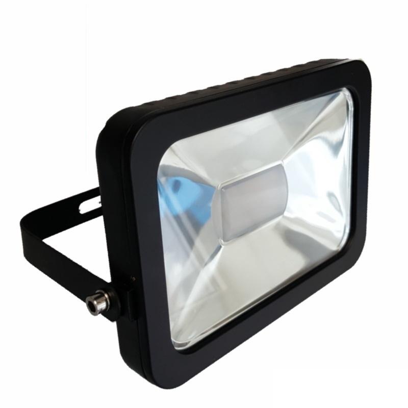 Slim Line LED Scheinwerfer / Fluter 10W - 900Lm in schwarz - warm-weiß (3000K)