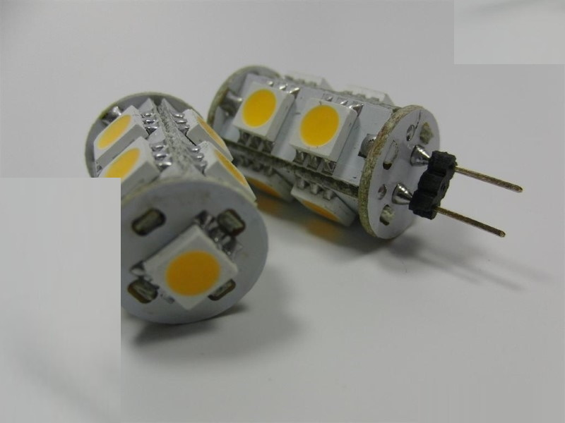 G4 LED Stiftsockel-Zylinder - 9x 3-Chip-SMDs 110Lm - 1,3W - neutral-weiß