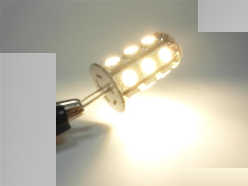 G6,35/GY6,35 LED Stiftsockel Zylinder 18x SMDs 230Lm 10-30V warm weiß