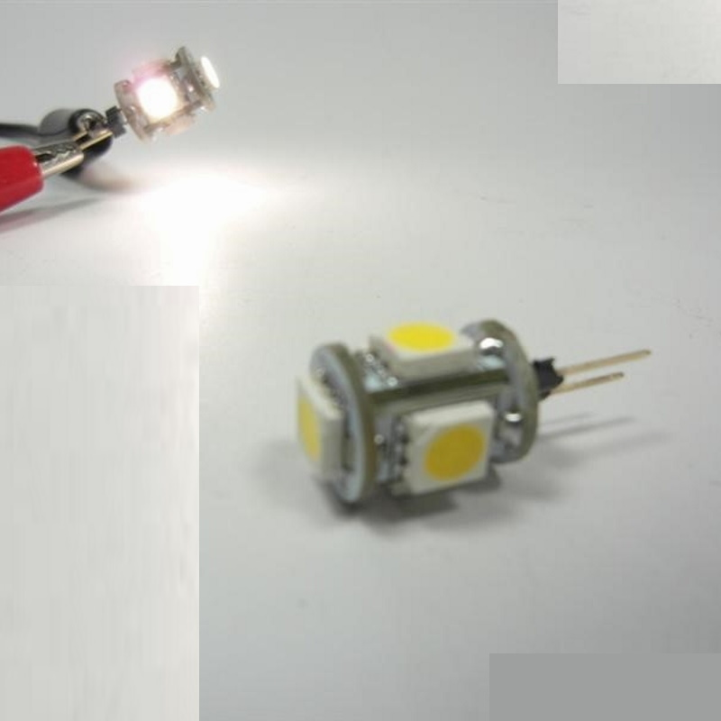 G4 LED Stiftsockel Zylinder 5x 3 Chip SMDs 75Lm warm weiß
