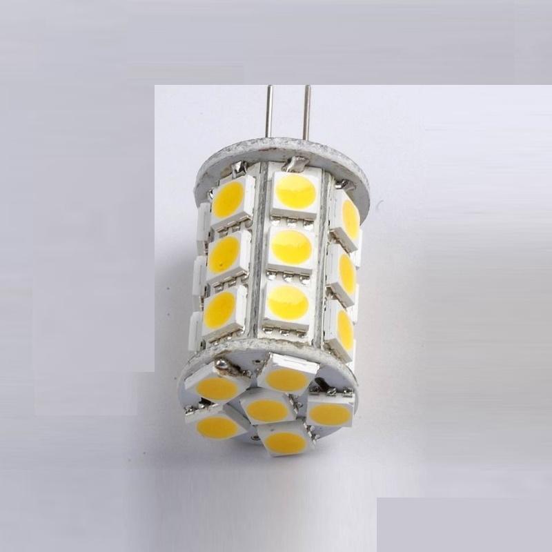 G6,35/GY6,35 LED Stiftsockel-Zylinder 27x 3-Chip-SMDs 328Lm 3,2W neutral-weiß