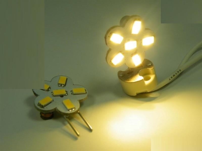 G6,35/GY6,35 LED Stiftsockel Blume 6x SMD5630 10-30V 150Lm(=15W) warm weiß 2800K