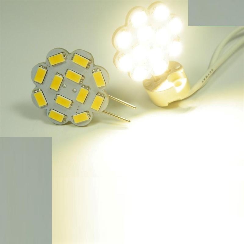 G6,35/GY6,35 LED Stiftsockel-Blume - 12x SMD 5630 - 287Lm - 3W(=25W) - warm-weiß