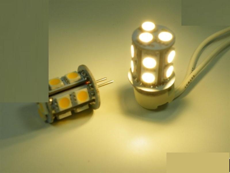 G6,35/GY6,35 LED Stiftsockel-Zylinder 13x 3-Chip-SMDs - 180Lm(= 15W) - warm-weiß