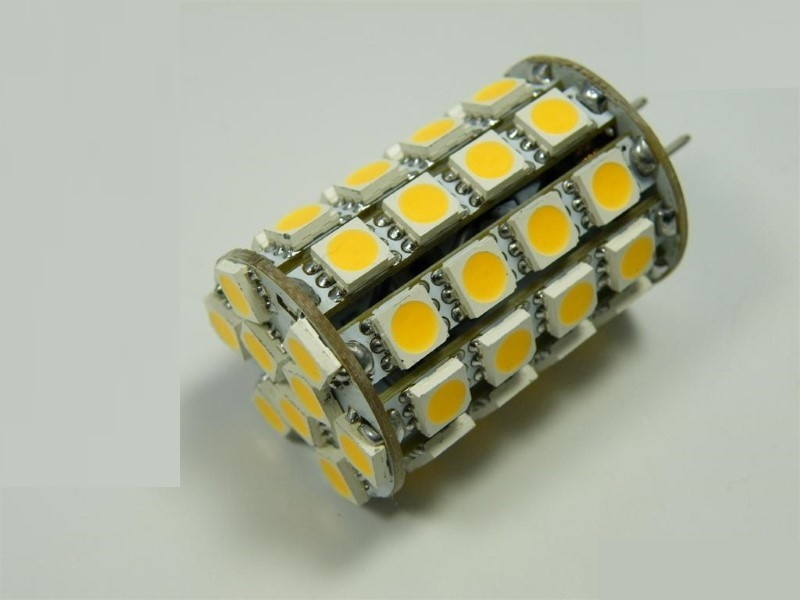 G6,35/GY6,35 LED Stiftsockel-Zylinder 49x 3-Chip-SMD-LEDs - warm-weiß