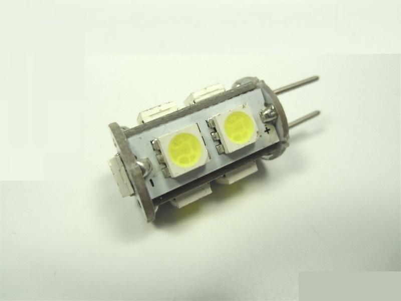 G6,35/GY6,35 LED Stiftsockel-Zylinder - 9x 3-Chip-SMDs - kalt-weiß
