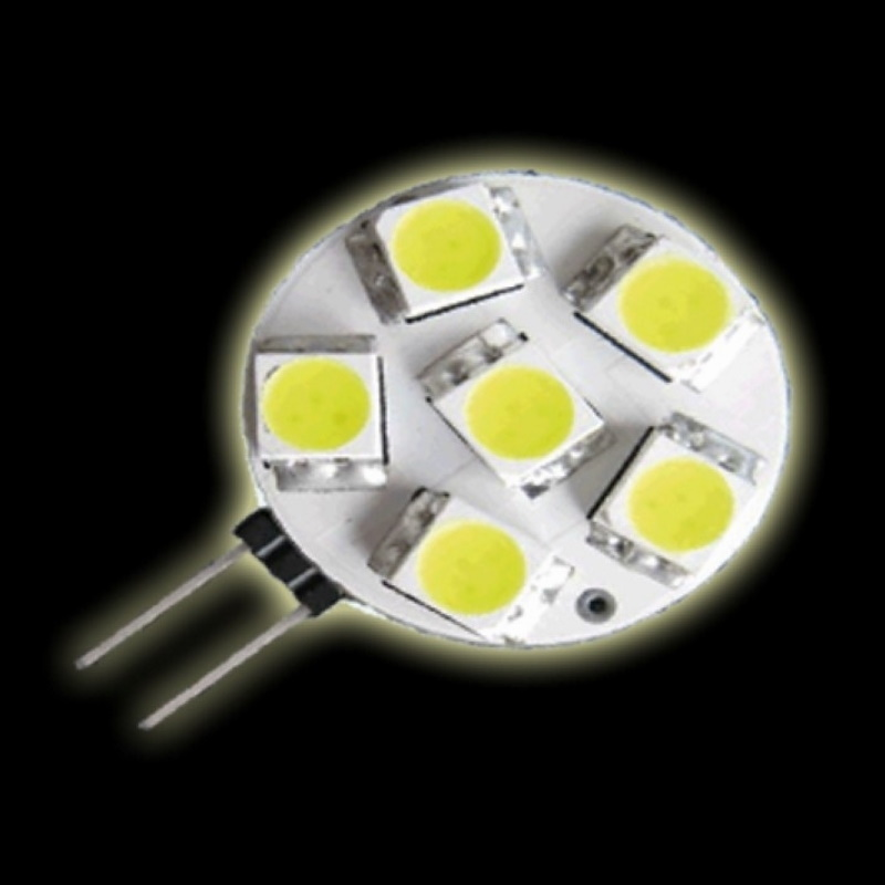 G4 LED Stiftsockel Lampe 6x SMD Leds GU4 118Lm 10-30V warm weiß (side pin)