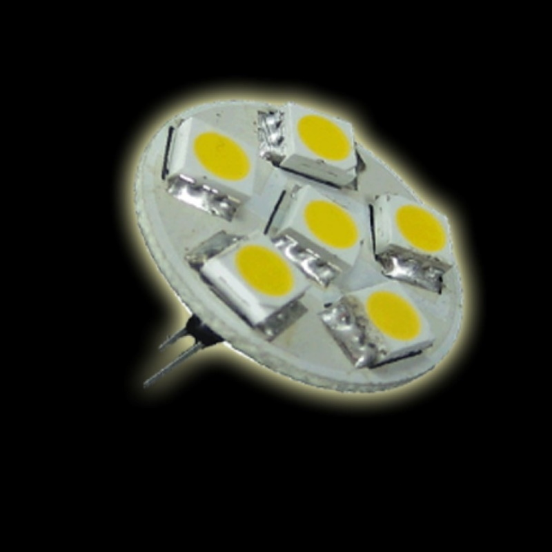 G4 LED Stiftsockel 6x SMD-Leds GU4 -65Lm warm-weiß (back-pin)