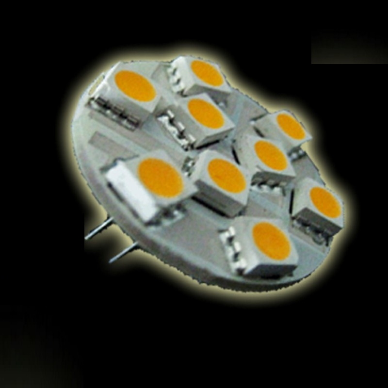G4 LED Stiftsockel 9x SMD-Leds - 140Lm - warm-weiß (back-pin)