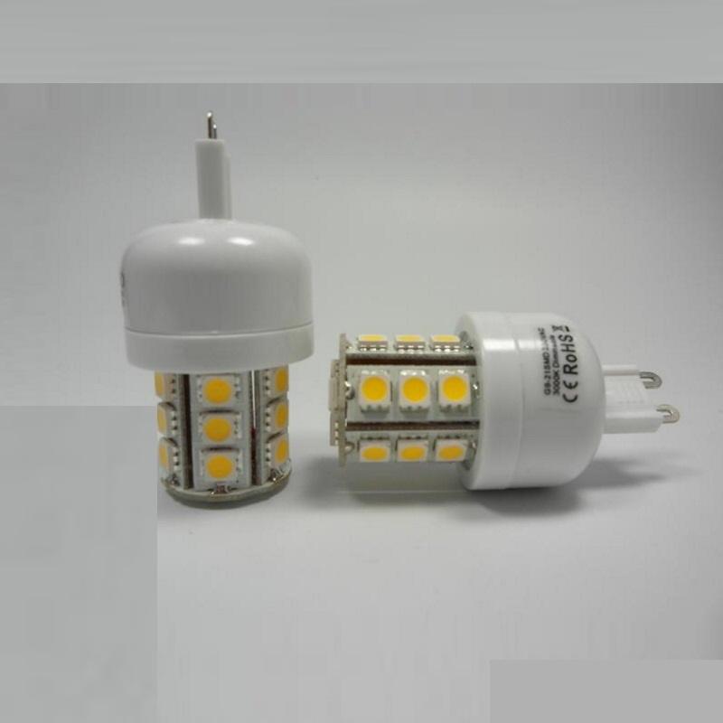 G9/GU9 LED Stiftsockel Leuchte 24x SMD Leds 380Lm 2,5W warm weiß