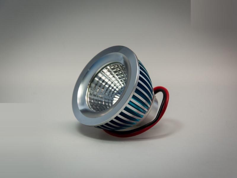dimmbarer Sharp COB 6W LED für MR16 / GU10 Rahmen -dimmbar- warm-weiß