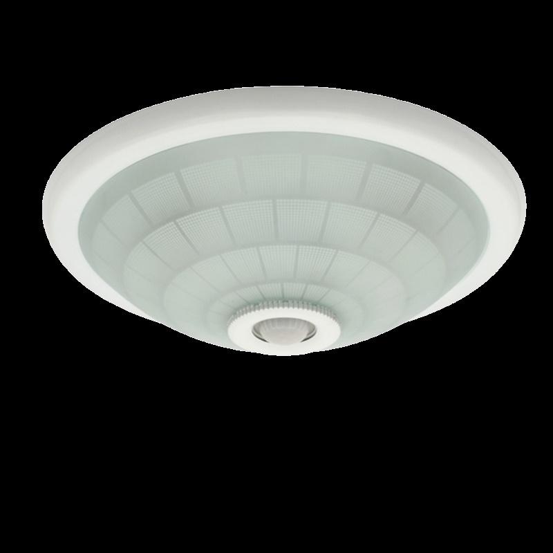 runde led deckenleuchte lampe in wei mit bewegungsmelder f r e27 leuchtmittel ebay. Black Bedroom Furniture Sets. Home Design Ideas