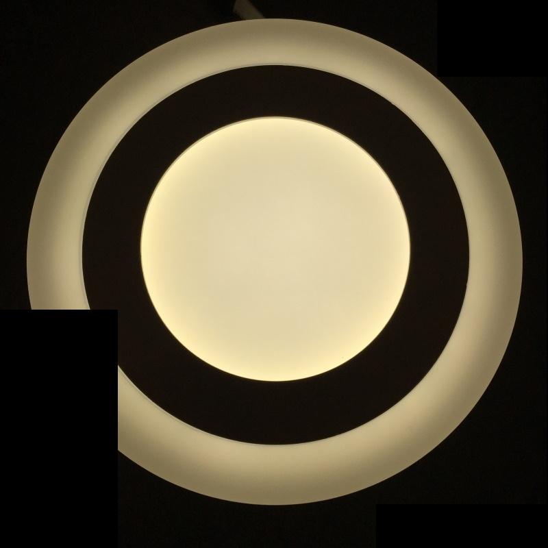 Dekorative Design LED Deckenleuchte 9W -rund- mit 3 Licht-Stufen - neutral-weiß