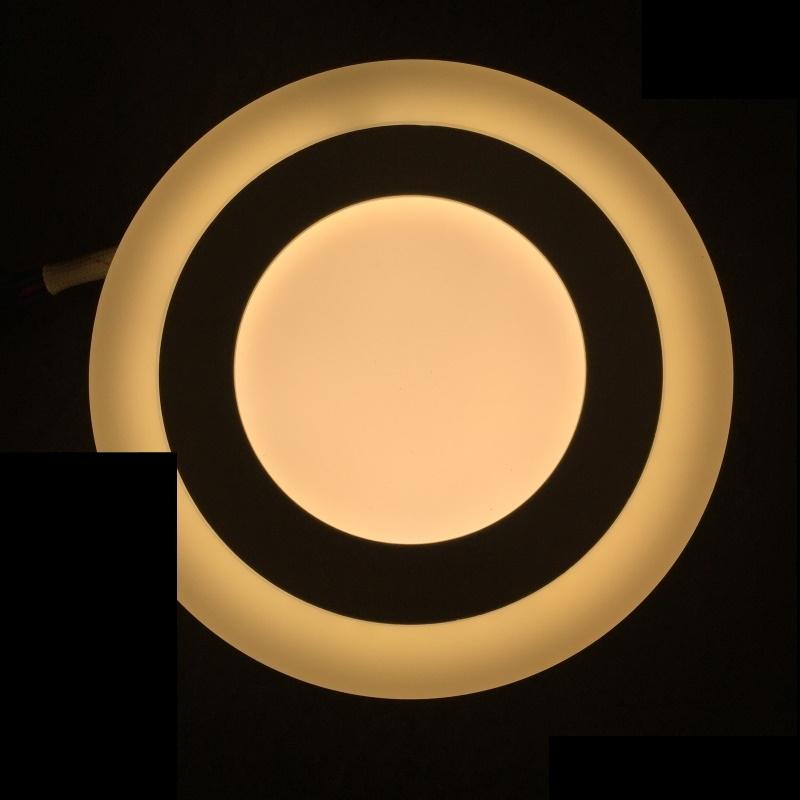 Dekorative Design LED Deckenleuchte 9W -rund- mit 3 Licht-Stufen - warm-weiß