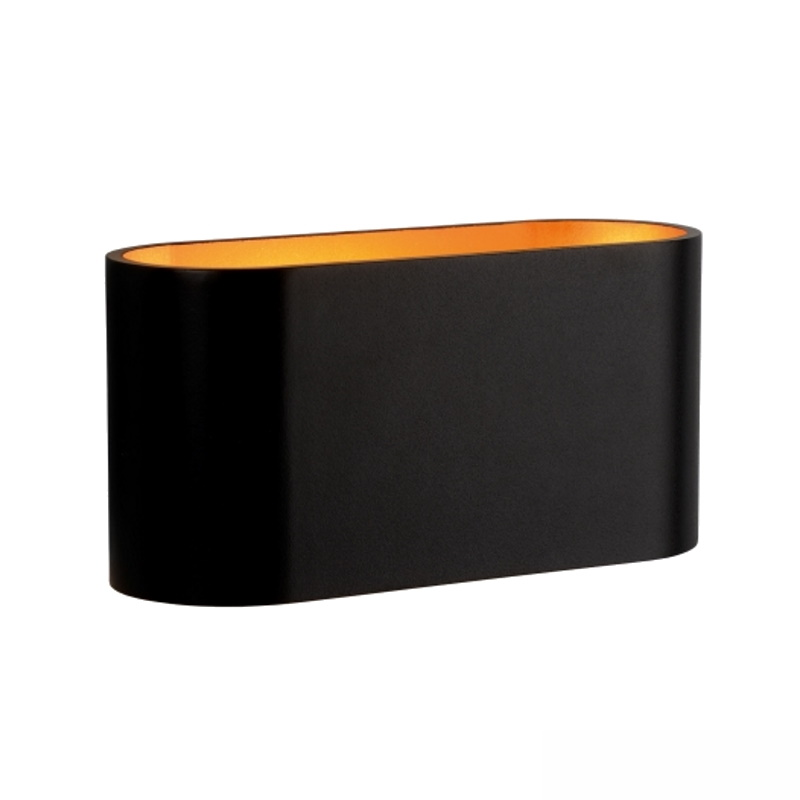 Designer Wandleuchte / Wandlampe / Wandstrahler G9 in schwarz IP20