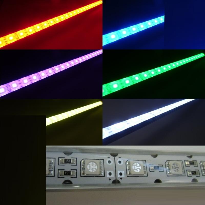 (39,9€/m) 50cm RGB LED/SMD Leiste 30x LEDs 12V DC -wasserfest- IP64 - 0,50m