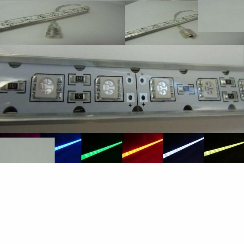 1m RGB LED/SMD Leiste 60x LEDs 12V DC -wasserfest- IP64 - 1 Meter