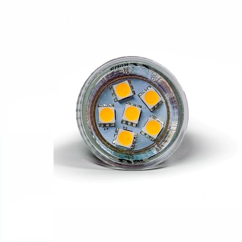 MR11/GU4 LED-Strahler 6x 3-Chip-SMDs - 1,3W - 90Lm - kalt-weiß (5500K)
