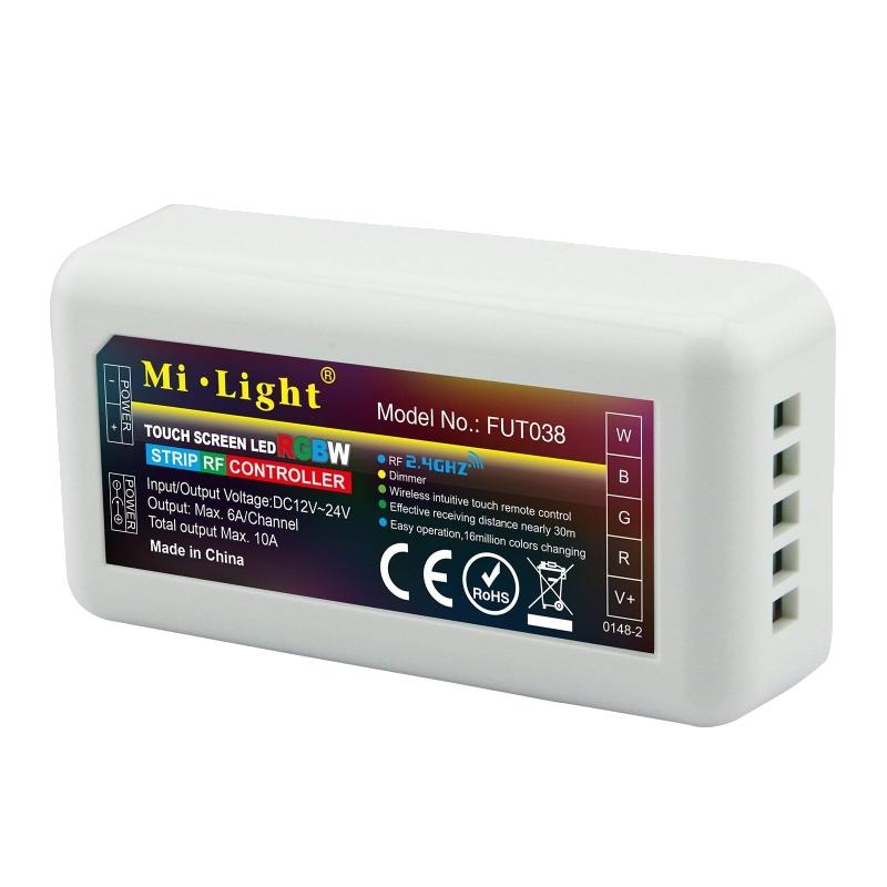 Funk RGBW-LED Empfänger zur Steuerung von RGB+W Leuchten 12-24V max. 10A MiLight
