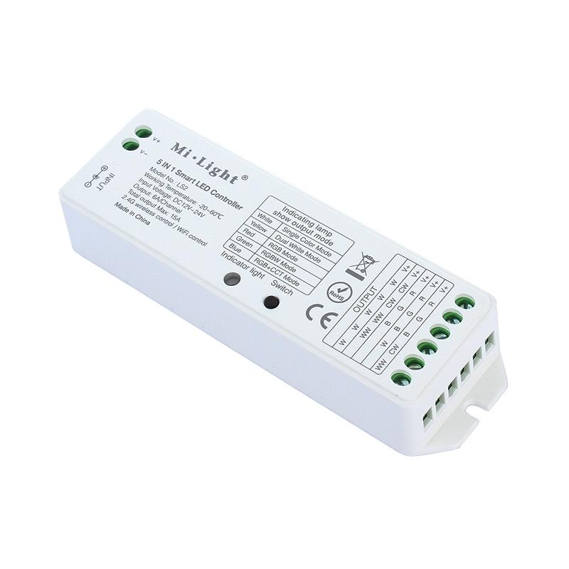 Funk RGBWW+CCT LED Empfänger 5 in 1 Steuerung von RGB+W+CCT LEDs 12-24V MiLight