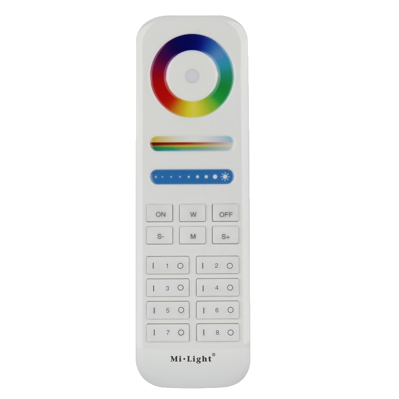 Funk RGB+CCT LED Fernbedienung 8 Zonen für farbsteuerung RGB+CCT LEDs MiLight