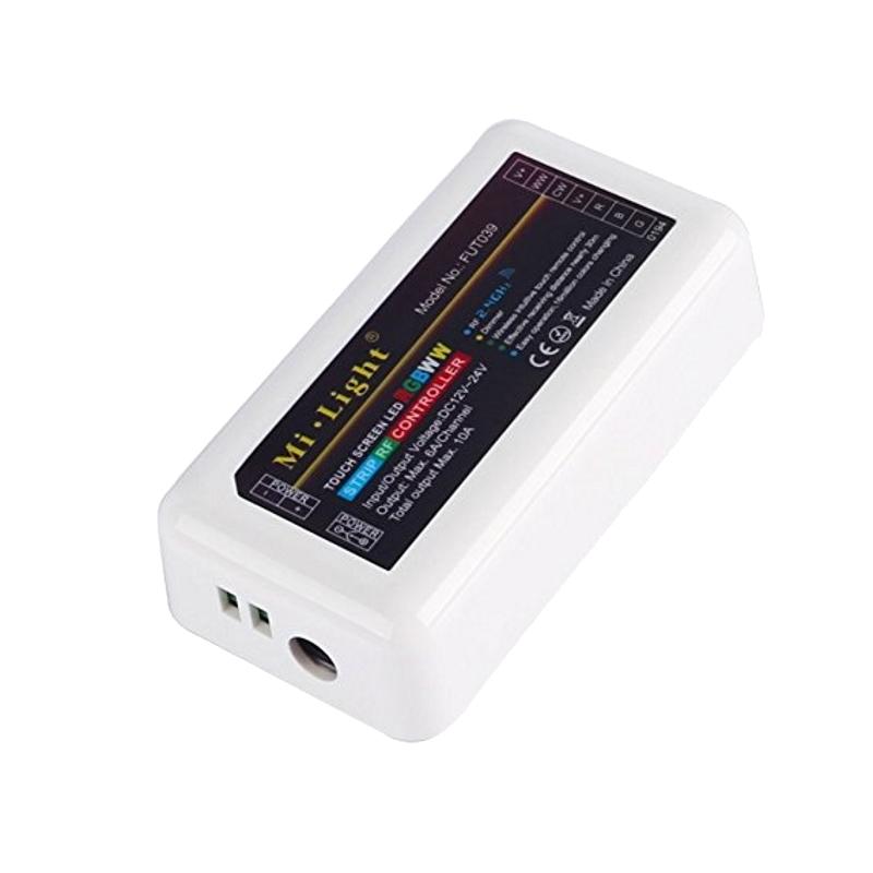 Funk RGBWW+CCT LED Empfänger zur Steuerung von RGB+CCT 12-24V max. 10A MiLight
