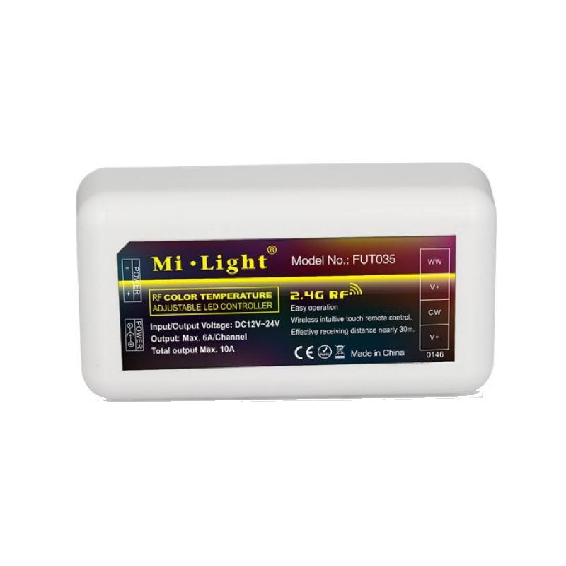 Funk CCT Empfänger zur Steuerung von Dual White LEDs CCT 12-24V max. 10A MiLight