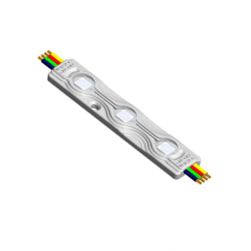 RGB Modul mit 3x1 RGB-LED - 12V/DC - 0,72W - 120° -wasserfest- IP67